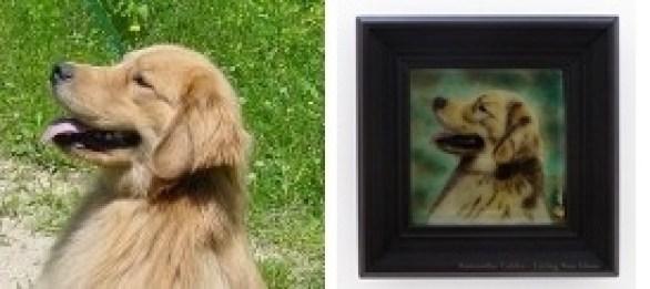 Custom Fused Glass Pet Portrait