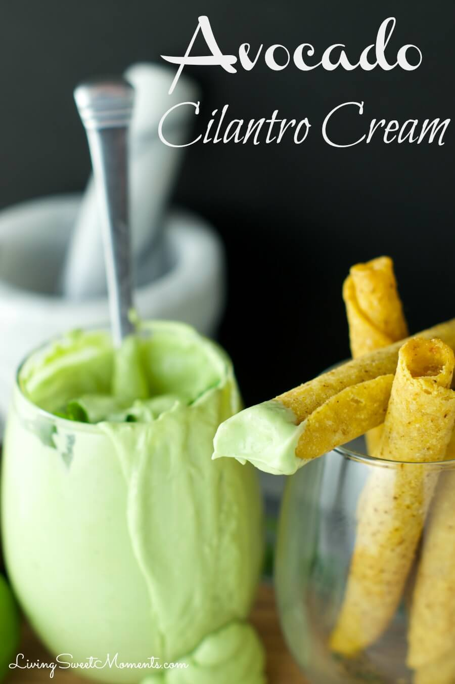 Avocado Cilantro Cream Dip Living Sweet Moments