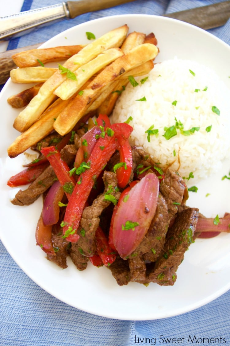 Peruvian Beef Stir Fry Lomo Saltado Living Sweet Moments