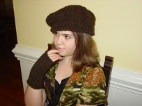 Knit and Crochet: hat and fingerless gloves
