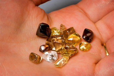 Diamonds found at the Crater of Diamonds State Park.
