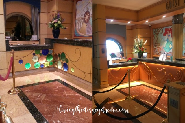 Disney Wonder Guest Services Before and After