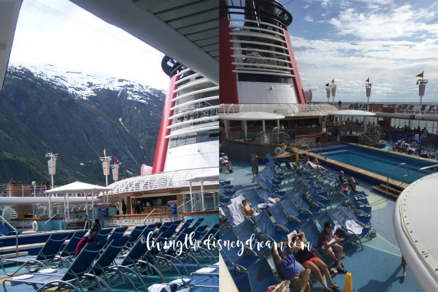 Disney Wonder Family Pool Before and After