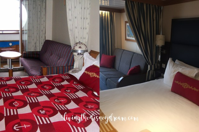 Disney Wonder Stateroom Before and After