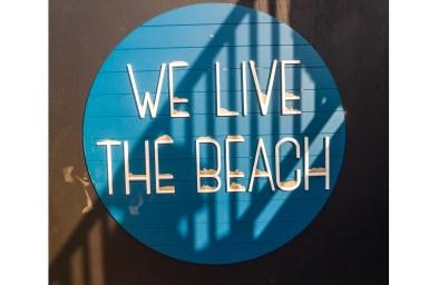 we live the beach