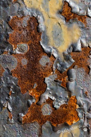 Close-up of rust on a historical hoist on Brown's Island along the James River in Richmond, Virginia