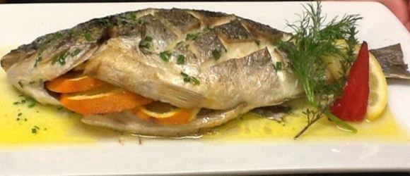 Fish Kitchen - baked fish with orange and herbs