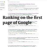 Ranked on the first page of Google