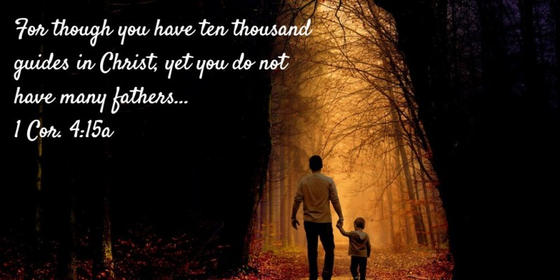 For though you have ten thousand guides in Christ, yet you do not have many fathers... 1 Cor. 4:15a (Sharing by Nathanael Stone on, My Experience Growing up in the Church Life with Spiritual Fathers and Mothers)