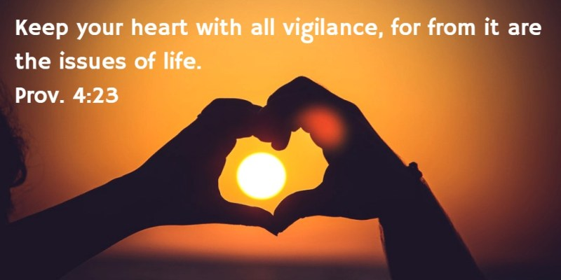 Keep your heart with all vigilance, for from it are the issues of life. Prov. 4:23