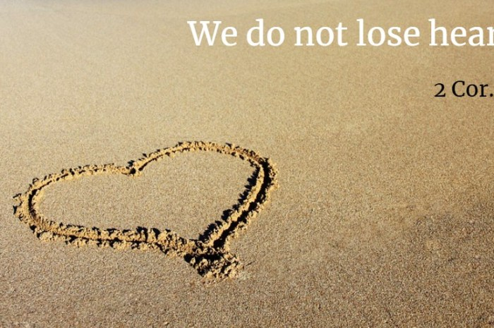 Jeremy Mason: We Do Not Lose Heart