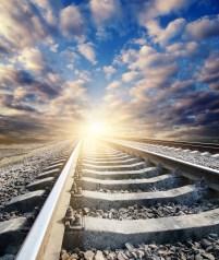 railway to sunny horizon