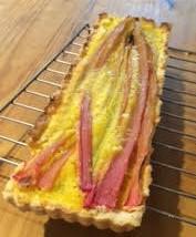 Long rhubarb pie.