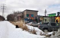 Graffiti along York Beltline Trail.