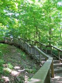 Sherwood Park staircase.