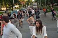Riders in the street.