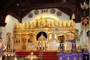 splendid iconostasis in gold