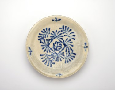 Blue and white dish.