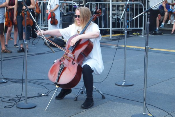 Cellist from the quartet.