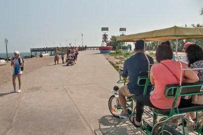 Quadricycle at Centre island pier.