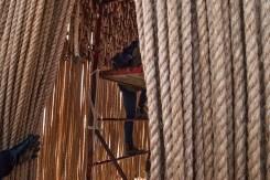 Climbing inside Floating Ropes.