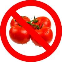 No tomatoes.