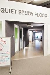 Quiet study floor at Ryerson.