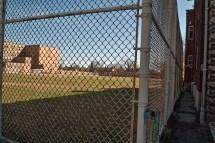 Athletic field, NW corner.