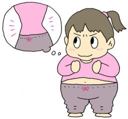 ダイエットを決意する女性