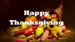 Have a happy Thanksgiving.
