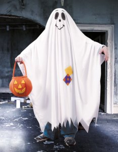 Recycling an old sheet made a good ghost costume in the old days