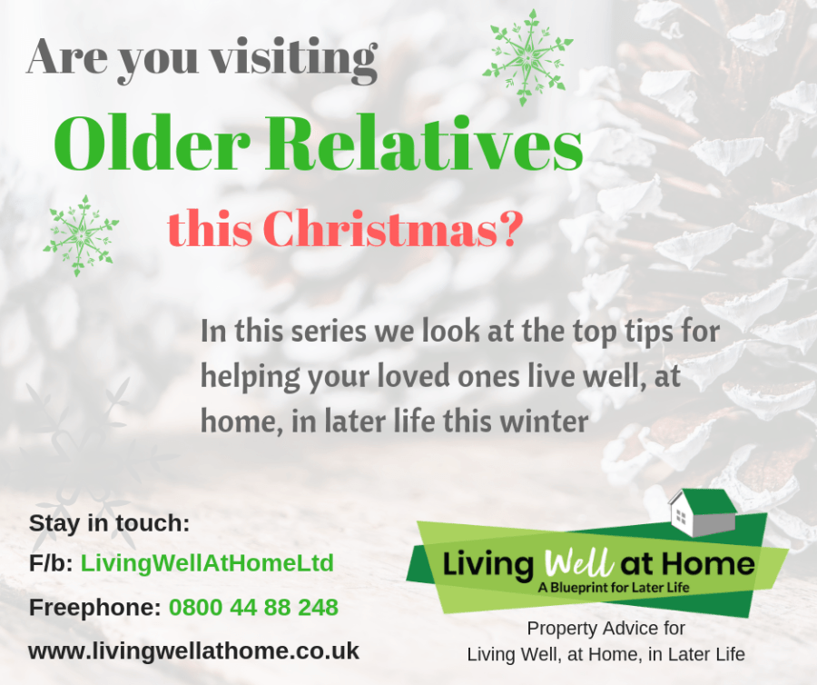Are you visiting older relatives this christmas? Top tips for helping your loved ones live well, at home, in later life.