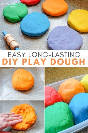 long lasting diy playdough recipe
