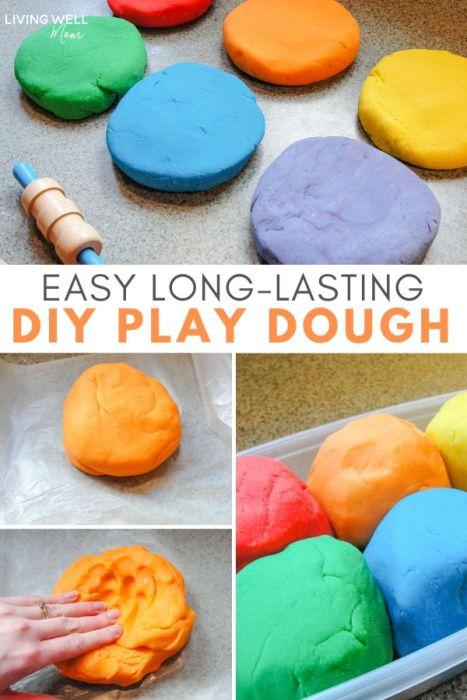 How To Make Easy Homemade Play Dough Living Well Mom