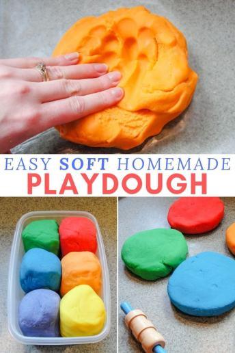 easy soft homemade playdough recipe