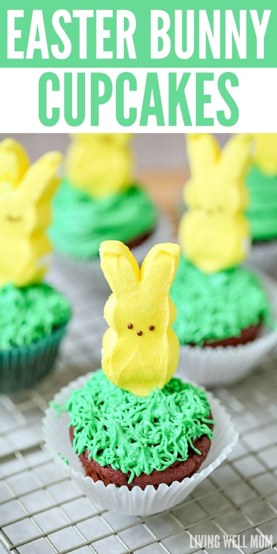 Easter Bunny Cupcakes are simple to make, and they're an adorable Easter treat. Kids will love helping you make them, and you'll love how easy this recipe is!