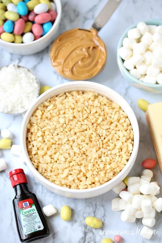 easter rice krispie treats ingredients