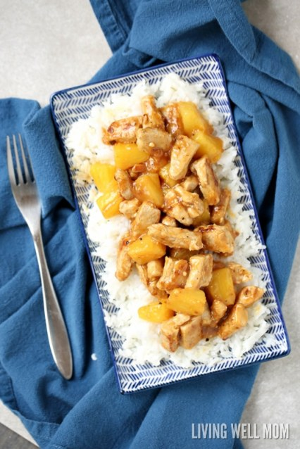aloha chicken dinner recipe gluten free rice and pineapples