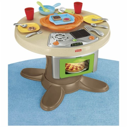 Fisher-Price Servin\' Surprises Kitchen & Table - Living Well Mom