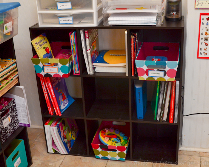 Organize Homeschool Cubes