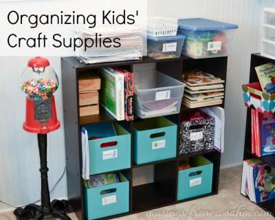 Organizing Kids Craft Supplies