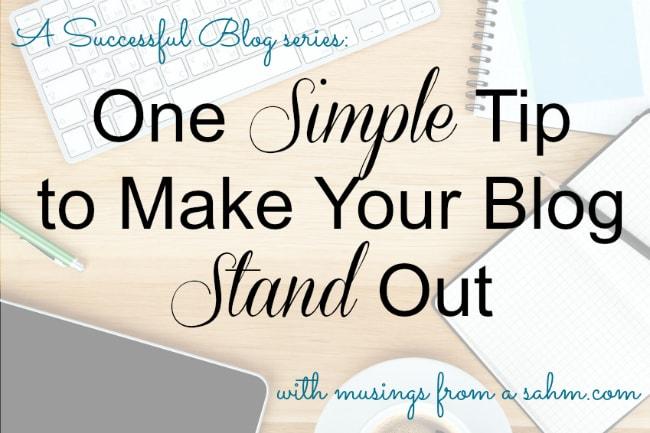 Want a successful blog? Here's one simple tip that experienced bloggers know. (It makes a HUGE difference!)