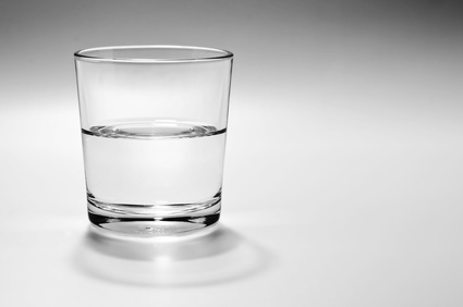 a half full half empty glass