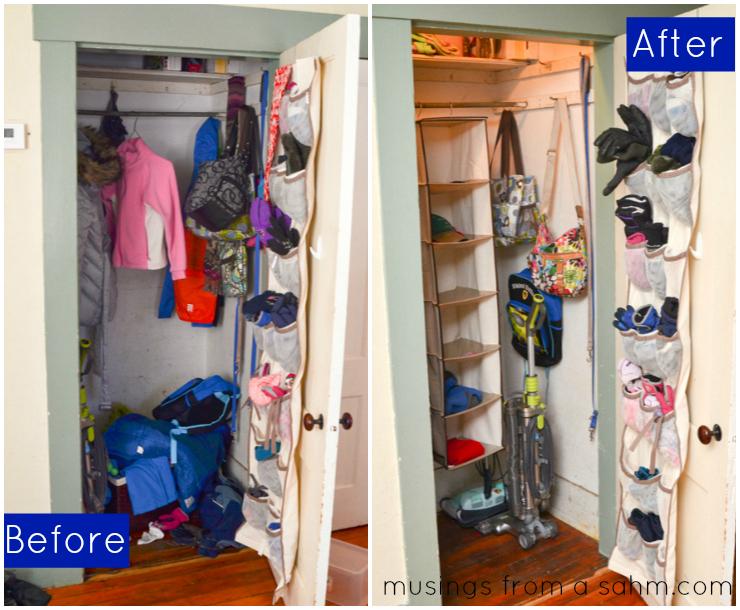 Before After Organize Closet