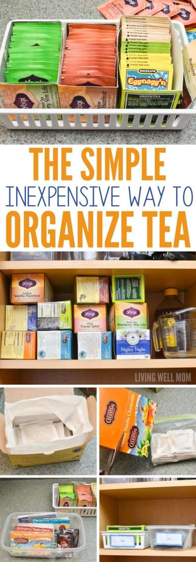 Not sure how to sort those tea bags in your cupboard? Here's the simple, inexpensive way to organize tea!
