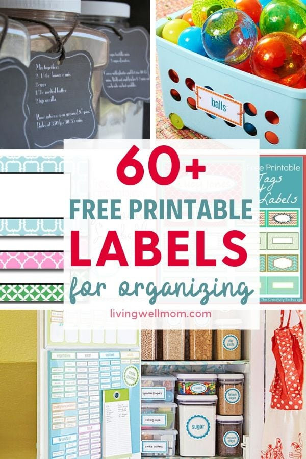 photo regarding Free Printable Organizing Labels known as 60+ Free of charge Printable Labels for Planning Your Household - Residing