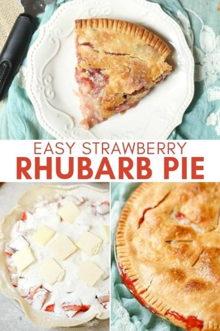 easy strawberry rhubarb pie recipe