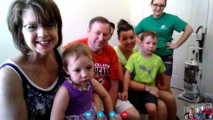 Skype with Family