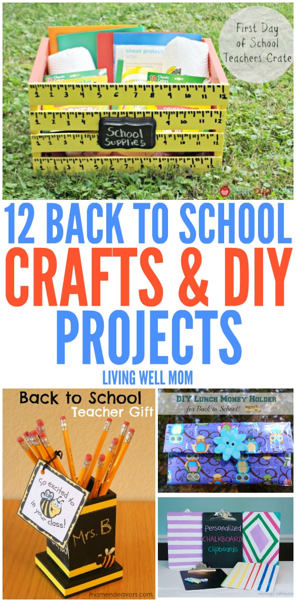 From teacher gifts to supply organization, here's 12 fun Back to School Crafts and DIY projects for kids