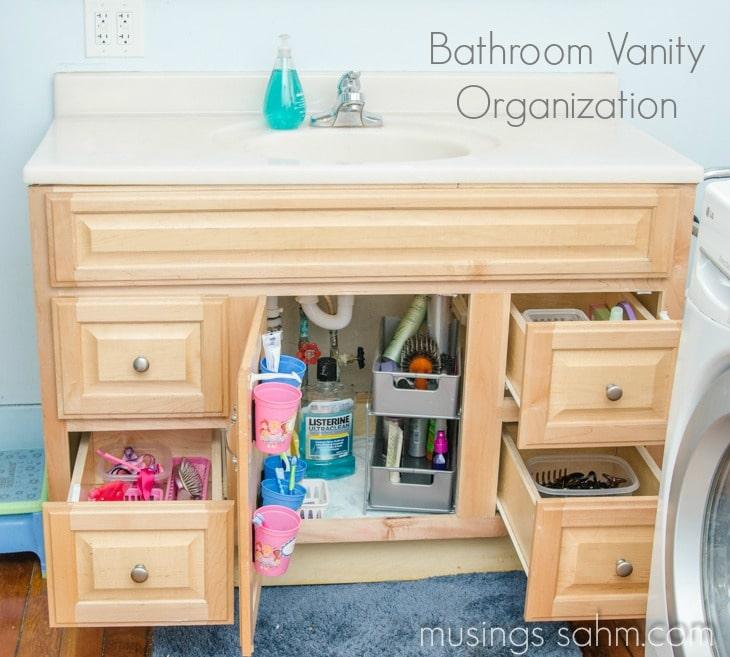 Bathroom Vanity Organization